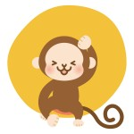 動物占い猿 カラーとキャラナビ対応
